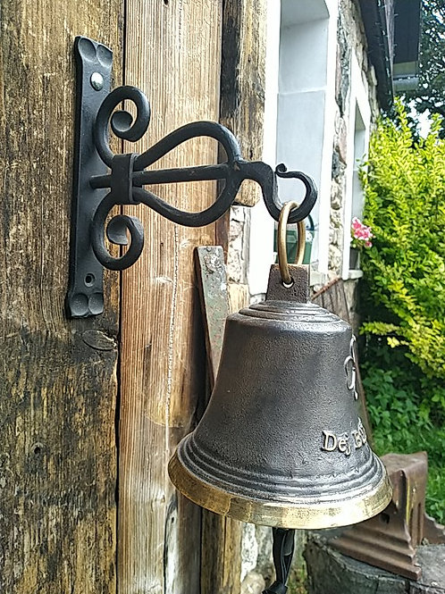 """Zvon typ U """"Dej bůh štěstí"""" na kování z kulatiny,  Ø14cm"""