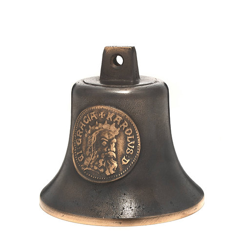 Zvonek Ital velký s reliéfem Karla IV