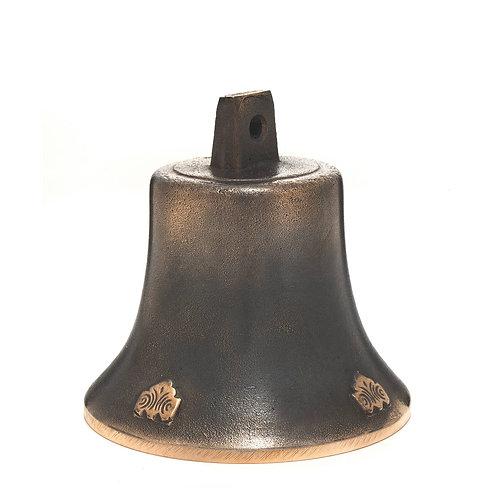 Zvonek Ital velký s reliéfem a pleteným srdcem