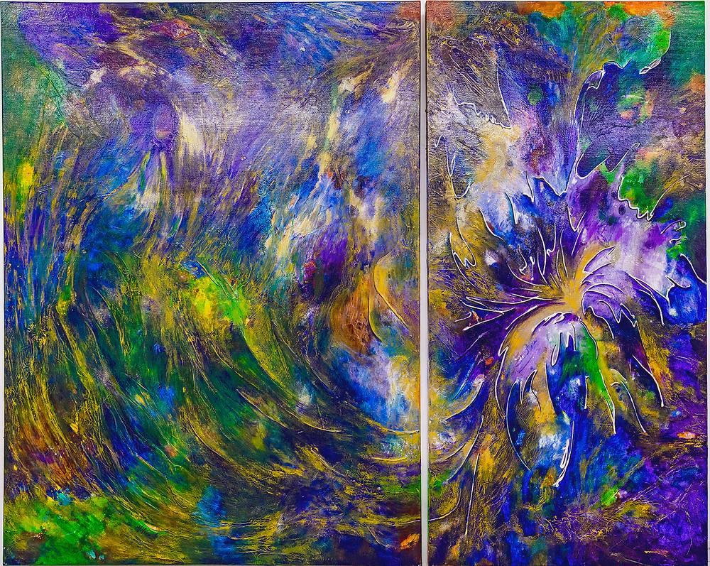 """Flower of Life"" Acrylic on canvas"
