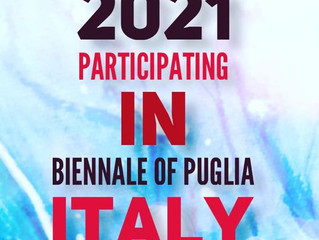 Participating in the First Contemporary International Art Biennale of Murgia, Puglia Italy,  2021