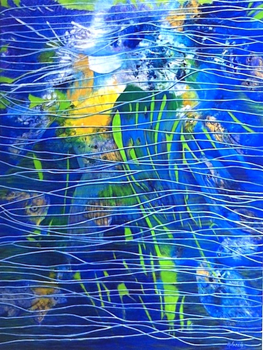 """Water Fairy"" Acrylic on canvas"