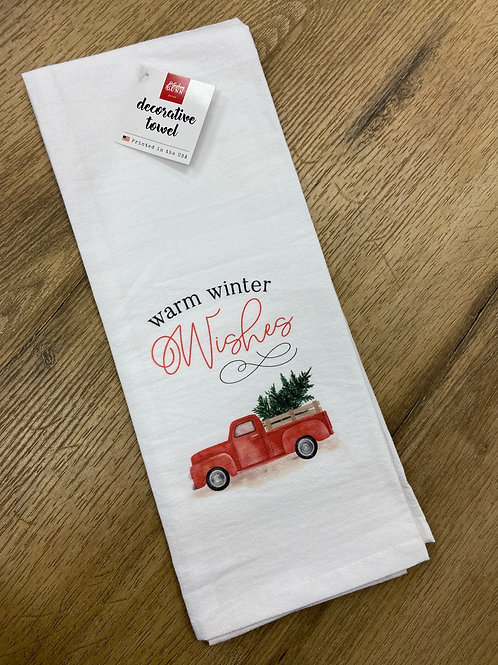 Warm Winter Wishes Tea Towel