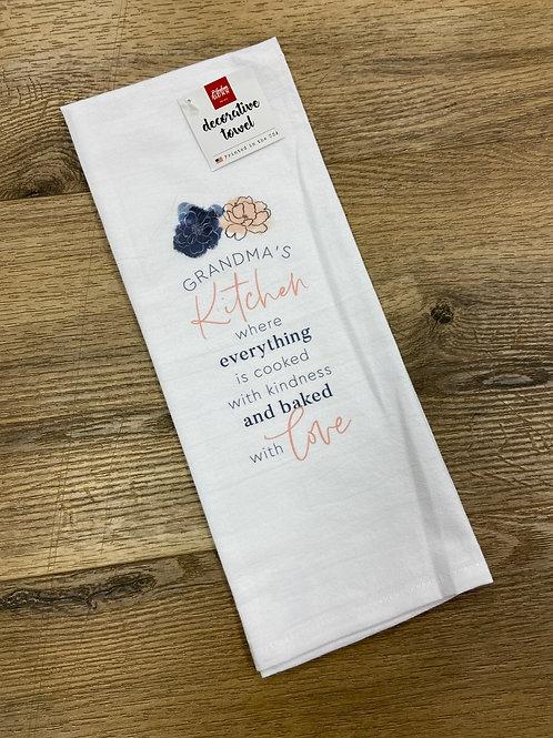Grandma's Kitchen Tea Towel