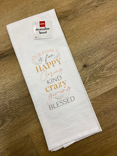 Our Family is Fun Tea Towel
