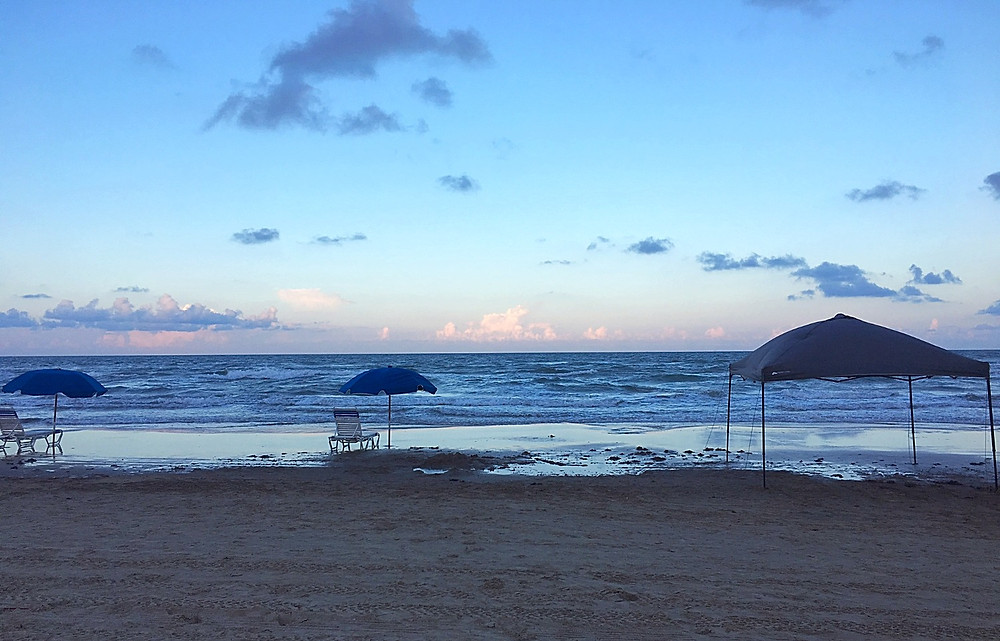 Padre Island Beach at Sunset