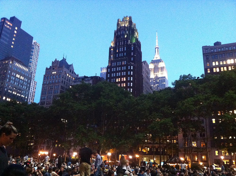Bryant Park at Night