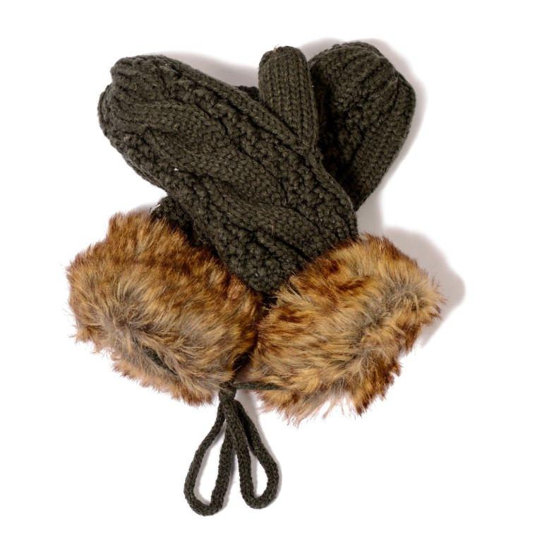 Faux Fur Acrylic Gloves