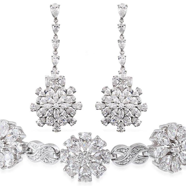 Swarovski Crystal Earrings and Bracelet