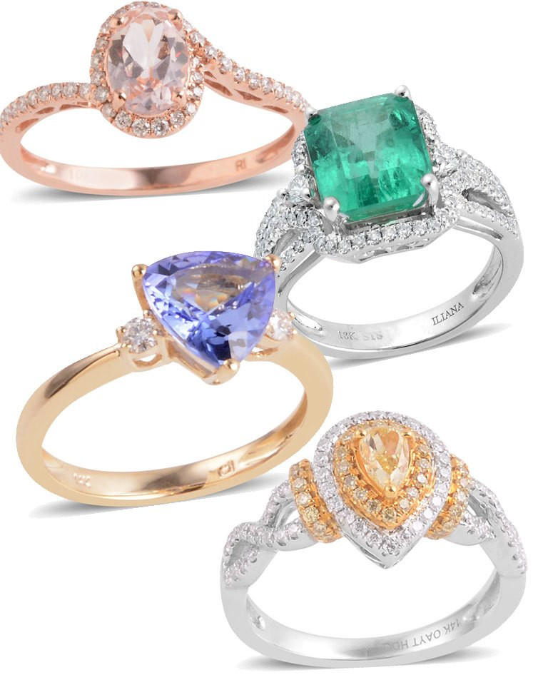 Exotic Gemstone Engagement Rings