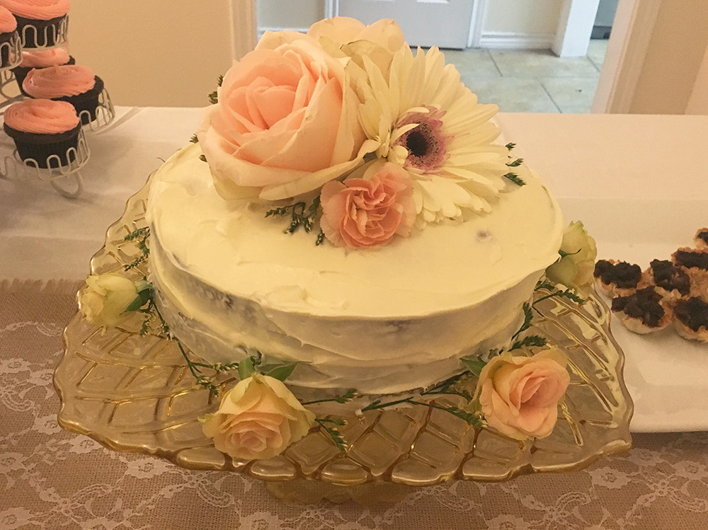 Italian Cream Cake with Flowers