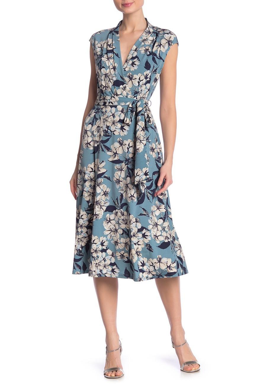 Floral surplice dresss