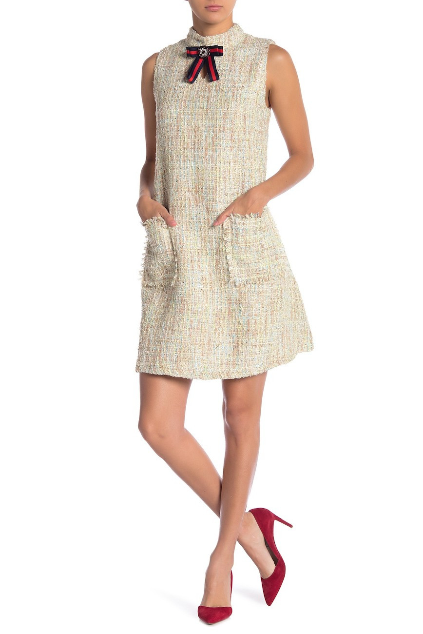 Tweed mini-dress