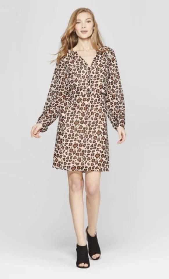 Leopard shirtdress