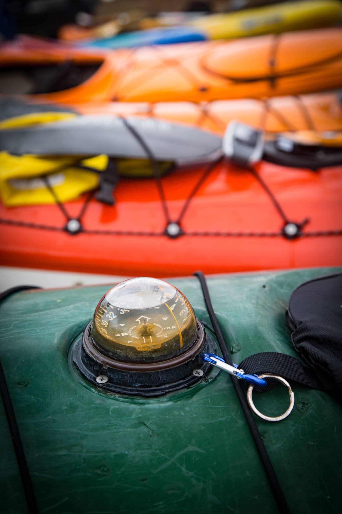 Kayaks lined up for Kayak Big Mac