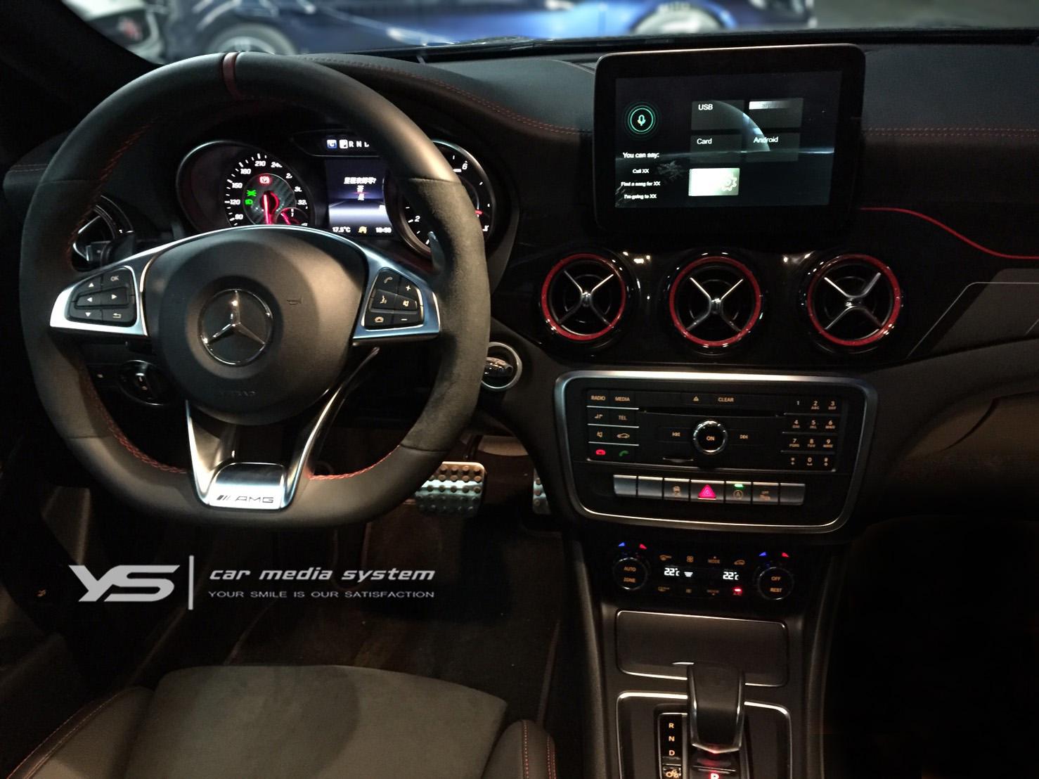 整合原車旋鈕之Benz carplay