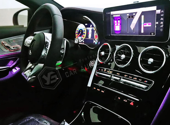 賓士C43(W205)64色氣氛燈-紫