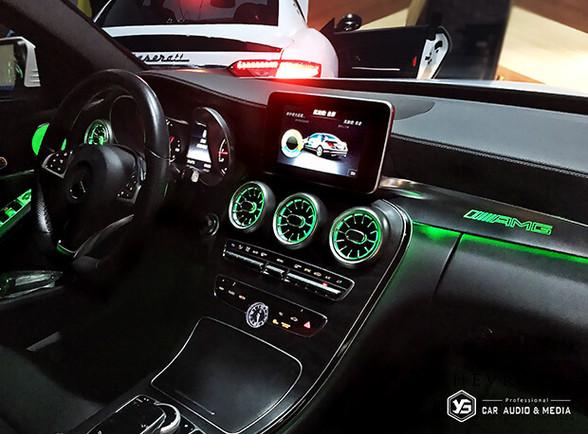 賓士C300(W205)氣氛燈-綠