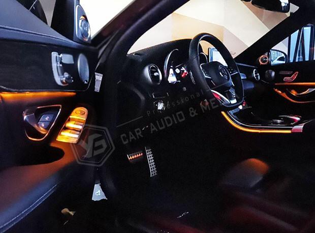 賓士C300(W205)氣氛燈-橙色