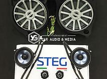 賓士W205 C200義大利STEG3音入喇叭組