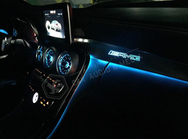 賓士C300(W205)氣氛燈-藍