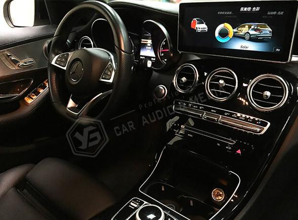 賓士_Mercedes-Benz W205 C250賓士3色氣氛燈-橙色01