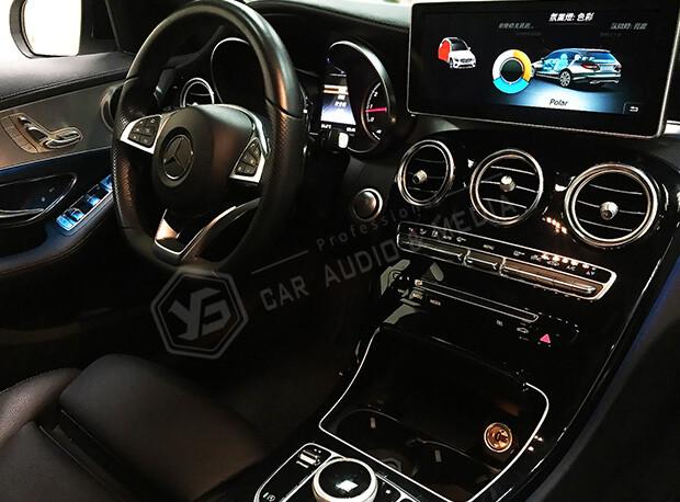 賓士_Mercedes-Benz W205 C250賓士3色氣氛燈-藍色