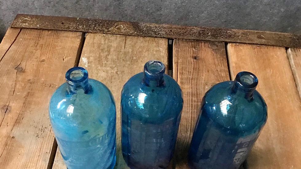 Bouteille  verre bleu