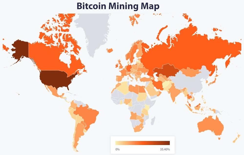Bitcoin average monthly hashrate share