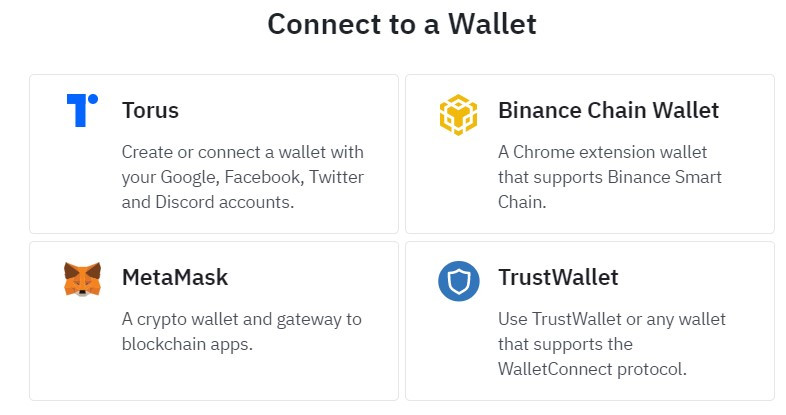 Available wallets for Features by Coinbase