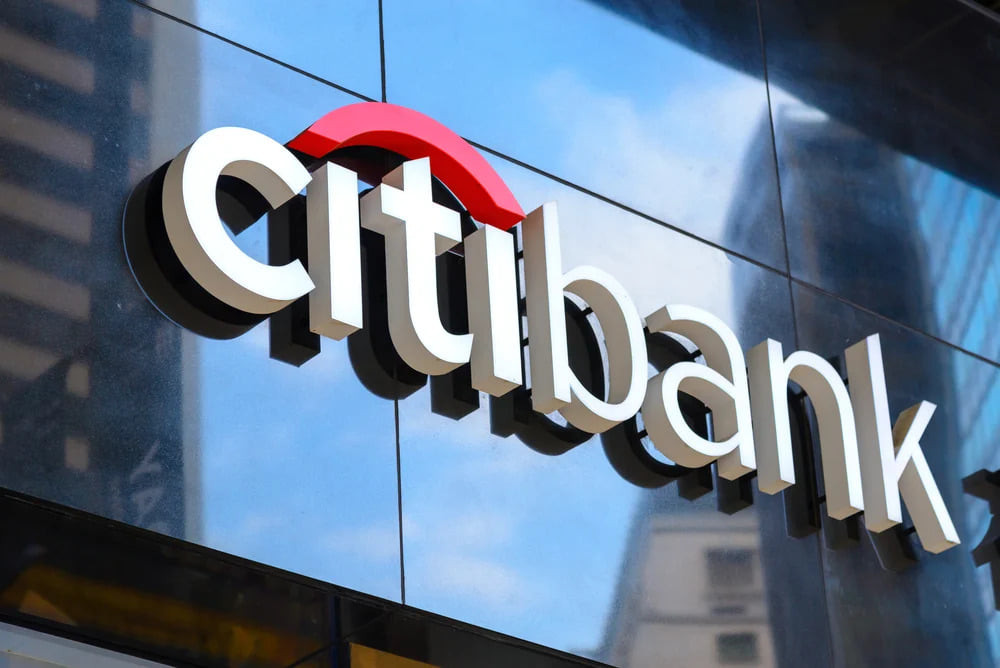 Citi Logo in front of a NYC branch