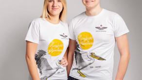 """Спеціальний дизайн благодійних футболок з пеліканом заради порятунку НПП """"Тузлівські лимани"""""""