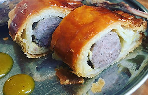 Grouse Leg & Grouse Sausage Roll w Hot S