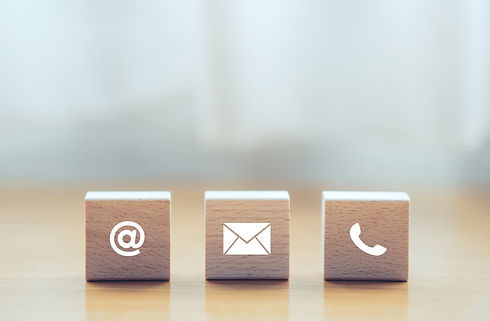 contact us icon (phone, email, mail ) on