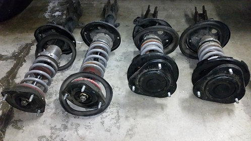Corolla oem struts with ebay coilovers - Used