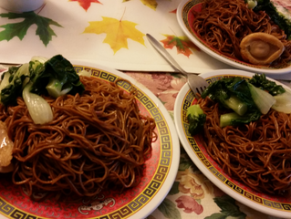 Expensive abalone with noodles - YUM!