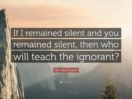 Will You Be Silent?