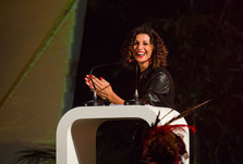 Luah Galvão apresentadora em Evento da 3