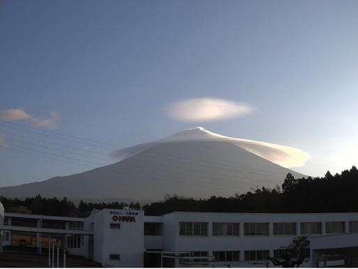富士山の光の中で