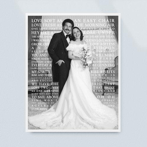 Anniversary Lyric Print (Grayscale)