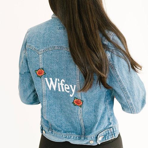 Small 'Wifey' Denim Jacket