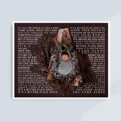 Baby Lyric Print