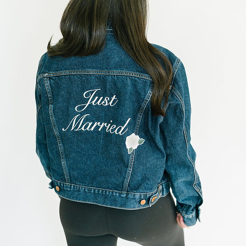Large 'Just Married' Denim Jacket