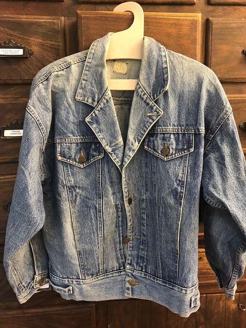XL Custom Vintage Back Pleat Denim Jacket