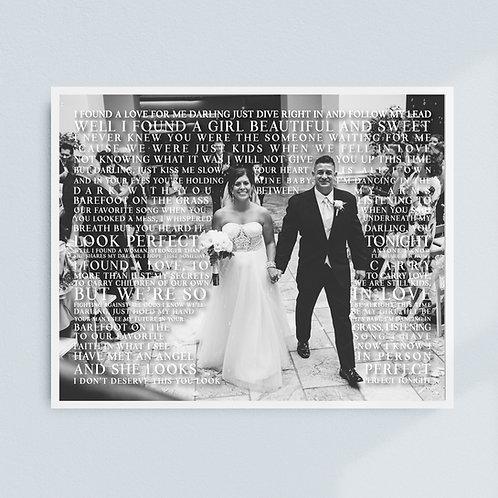 Wedding Lyric Print (Grayscale)