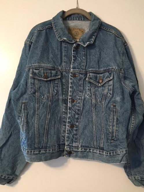 Large Custom Oversized Vintage Denim Jacket