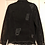 Thumbnail: Medium Custom Black Distress Denim Jacket