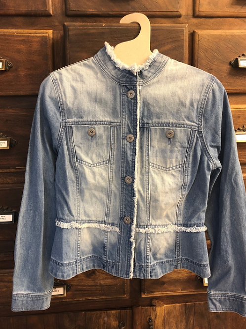 Medium Peplum Denim Jacket