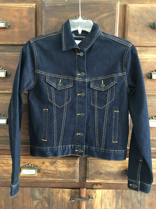 Small Custom Dark Denim Jacket