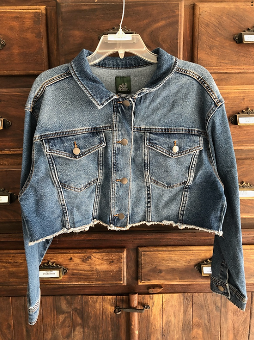 XL Custom Cropped Denim Jacket